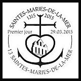 Oblitération illustrée 1er jour à Paris au Carré d'Encre aux Saintes-Maries-de-la-Mer le Dimanche 29 mars 2015