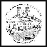 Oblitération illustrée 1er jour à Paris au Carré d'Encre et à Chalon-sur-Saône (71) le Vendredi 17 avril 2015