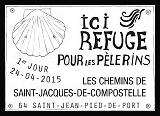 Oblitération illustrée 1er jour à Paris au Carré d'Encre et à Oloron-Sainte-Marie (64), Saint-Jean-Pied-de-Port (64), Blaye (33), Aire-sur-l'Adour (40)  le Vendredi 24 avril 2015