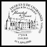Oblitération illustrée 1er jour à Paris au Carré d'Encre et à Lapalisse (03) les 15, 16 et 17 mai 2015