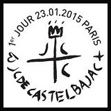 Oblitération illustrée 1er jour à Paris au Carré d'Encre le Vendredi 23 janvier 2015