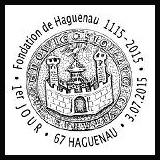 Oblitération illustrée 1er jour à Paris au Carré d'Encre et à Haguenau (67) le 3 et 4 juillet 2015