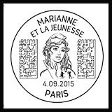 Oblitération illustrée 1er jour à Paris au Carré d'Encre le Vendredi 4 septembre 2015