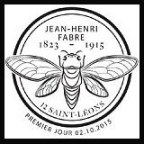 Oblitération illustrée 1er jour à Paris au Carré d'Encre et à Saint-Léons (12), Sérignan-du-Comtat (84) le 2 et 3 octobre 2015