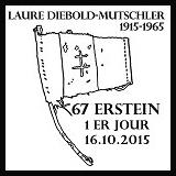 Oblitération illustrée 1er jour à Paris auCarré d'Encre et à Erstein(67) le 16  et 17 octobre 2015
