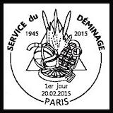 Oblitération illustrée 1er jour à Paris au Carré d'Encre le 20 et 21 février 2015