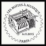 Oblitération illustrée 1er jour à Paris, au Salon d'automne et au Carré d'Encre le 6 et 7 novembre 2015