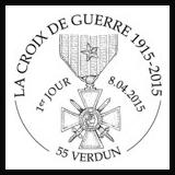 Oblitération illustrée 1er jour à Paris au Carré d'Encre à Verdun (55), Boulogne-Billancourt (92), et Paris (75)  le Mercredi 8 avril 2015