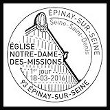 Oblitération 1er jour à Epinay sur Seine et Paris le vendredi 18 et samedi 19 mars 2016