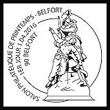 Oblitération 1er jour à Paris au Carré d'Encre et Belfort le 1er avril 2016