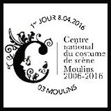 Oblitération 1er jour à Paris au Carré d'Encre et à Moulins (03) du 8 au 10 avril 2016'