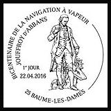Oblitération 1er jour à Paris au Carré d'Encre,Baume-les Dames, Roches-Bettaincourt le 22 et 23 avril 2016
