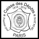Oblitération 1er jour à Paris au Carré d'Encre le jeudi 28 avril 2016