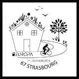 Oblitération 1er jour à Paris au Carré d'Encre et Strasbourg le dimanche 8 mai 2016