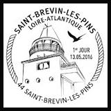 Oblitération 1er jour à Paris au Carré d'Encre et Saint-Brevin-les-Pins du 13 au 15 mai 2016