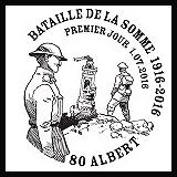 Oblitération 1er jour à Paris au Carré d'Encre et Albert le vendredi 1 juillet 2016