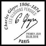 Oblitération 1er jour à Paris au Carré d'Encre et au musée d'Orsay le 5 et 6 juin 2016
