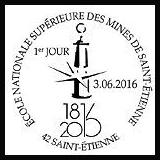 Oblitération 1er jour à Paris au Carré d'Encre et Saint Etienne le 3 et 4 juin 2016
