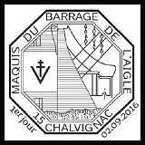 Oblitération 1er jour à Paris au Carré d'Encre et à Chalvignac (15) le 2, et 4 septembre 2016