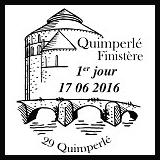 Oblitération 1er jour à Paris au Carré d'Encre et Quinperlé le 17 et 18 juin 2016