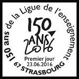 Oblitération 1er jour à Paris au Carré d'Encre et Strasbourg le 23 juin 2016