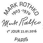 Oblitération 1er jour à Paris au Carré d'Encre le 22 janvier 2016