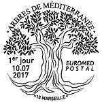 Oblitération 1er jour à Paris au Carré d'Encre et Marseille le 10 juillet 2017