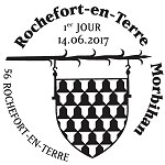 Oblitération 1er jour à Paris au Carré d'Encre et à Rochefort-en-Terre le 14 juin 2017