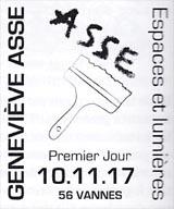 Oblitération 1er jour à Paris au Carré d'Encre, le 10 novembre 2017 et au Salon philatélique d'automne, Espace Champerret Hall A du 9 au 12 novembre 2017