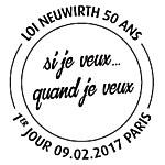Oblitération 1er jour à Paris au Carré d'Encre et à Saint Etienne le 9 février 2017