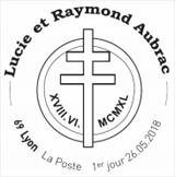 Oblitération 1er jour à Paris au carré d'Encre, Lyon et Vesoul le 26 et 27 mai 2018