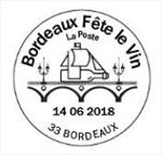 Oblitération anticipée au Carré d'Encre dès le 25 mai 2018 puis par correspondance auprès de Phil@poste et dans les bureaux de poste de Gironde à partir du 4 juin 2018