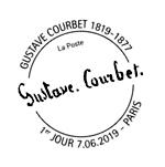 Oblitération 1er jour à Paris au carré d'Encre et à Ornans (25) Musée Gustave Courbet du 7 au 10 juin 2019