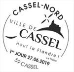 Oblitération 1er jour à Paris au Carré d'Encre et à la mairie de Cassel le 27 juin 2019