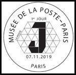 Oblitération 1er jour à Paris au carré d'Encre et au 73ème Salon Philatélique d'Automne Espace Champerret Hall A le 7 novembre 2019