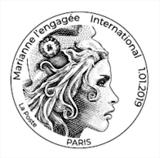 Oblitération 1er jour à Paris au carré d'Encre le 1 janvier 2019
