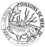Oblitération 1er jour à Paris au carré d'Encre le 22 et 23 février 2019