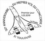 Oblitération 1er jour à Paris au carré d'Encre et Athis_Mons (91) Musée Delta, Toulouse(31) Espace CE Airbus le 1 et 2 mars 2019
