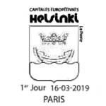 Oblitération 1er jour à Paris au carré d'Encre et au Salon philatélique de printemps porte de Champeret 75017 Paris le 16 mars 2019
