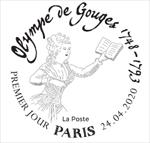Oblitération 1er jour à Paris au carré d'Encre le 24 et 25 avril 2020