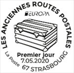 Oblitération 1er jour à Paris au carré d'Encre et à Strasbourg bureau de poste 1 rue de la fonderie, le 7 et 9 mai 2020