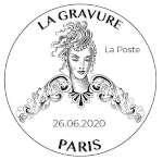 Oblitération 1er jour à Paris au carré d'Encre le 26 juin 2020