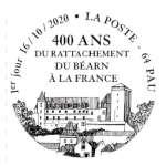 Oblitération 1er jour à Paris au carré d'Encre à Pau (64000), Bureau de Poste Pau Bosquet, 14 rue Gambetta le 16 et 17 octobre 2020