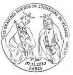 Oblitération 1er jour à Paris au carré d'Encre 3 bis rue des Mathurins, 75009 PARIS le 6 novembre 2020