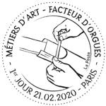 Oblitération 1er jour à Paris au carré d'Encre et à  St-Didier-au-Mont-d'Or  le 21 février 2020