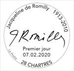 Oblitération 1er jour à Paris au carré d'Encre et à Chartres, Médiathèque l'Apostrophe, de 9H à 12h00 et de14H à 18H le 7 et 8 février 2020