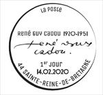 Oblitération 1er jour à Paris au carré d'Encre et à Sainte-Reine-de-Bretagne (44) le 14 et 15 février 2020