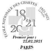 Oblitération 1er jour à Paris au carré d'Encre 3 bis rue des Mathurins, 75009 PARIS le 22 février 2021