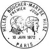 Oblitération 1er jour à Paris et Levallois le 10 juin 1972
