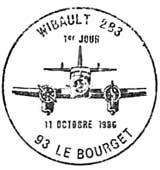 Oblitération 1er jour à Le Bourget le 11 octobre 1986